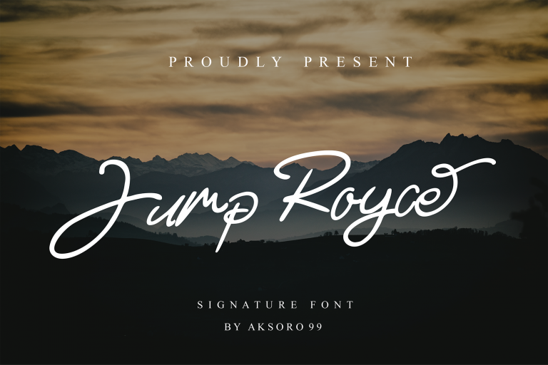 Preview image of Jump Royce – Signature Font